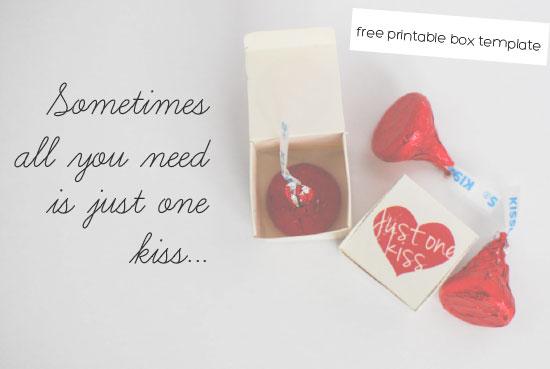 Hersheys Kiss Valentines Day Box Template