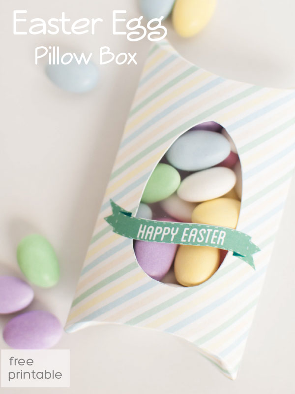 free box template for Easter treats
