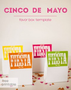 Cinco de Mayo Free Printable Favor Box