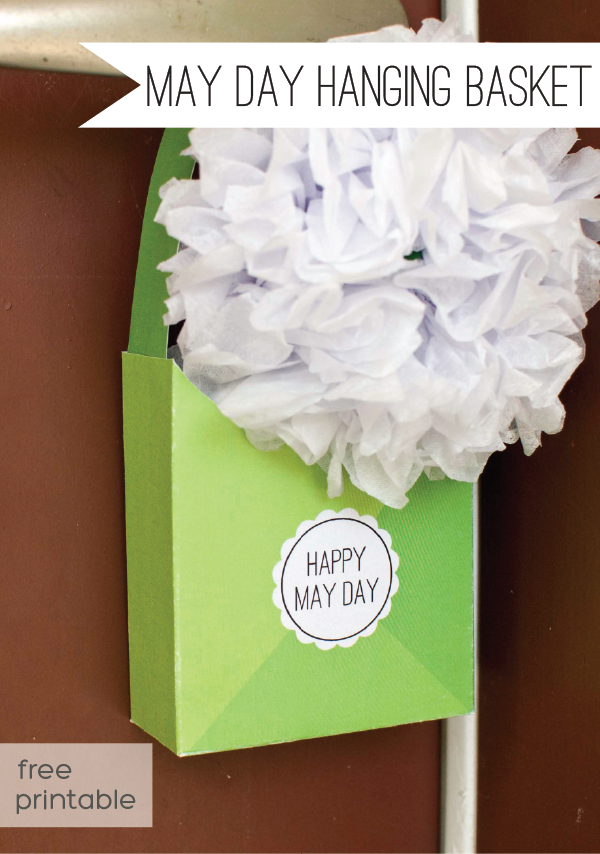 DIY May Day Basket: Free Printable Template